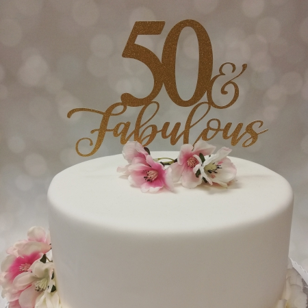 Caketopper 50 and fabulous