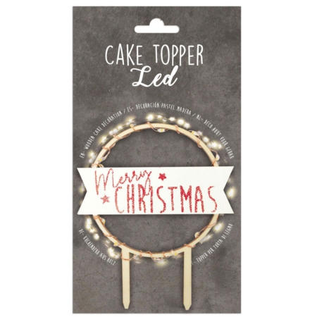 Scrapcooking Cake Topper Led Merry Christmas