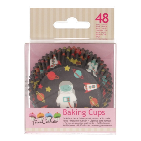 FunCakes Baking Cups -Space- pk/48