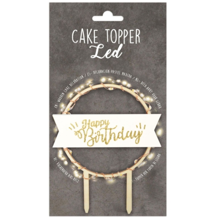 Scrapcooking Cake Topper Led Happy Birthday