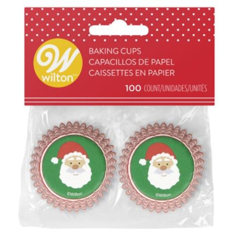 Wilton Mini Baking Cups Santa Claus pk/100
