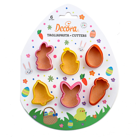 EASTER PLASTIC COOKIE CUTTERS SET OF 6