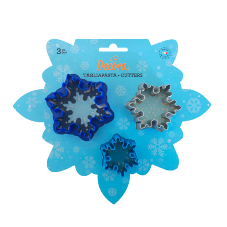 SET 3PCS CUTTERS FROZEN STAR