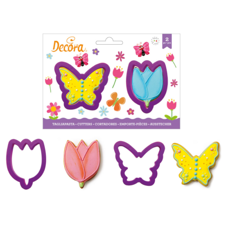 Butterfly and flower cutters