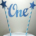 Cake topper One Blauw