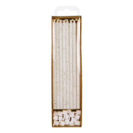 PME Extra Tall Candles Glitter 18cm pk/16