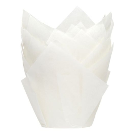 House of Marie Muffin Cups Tulp Wit pk/36